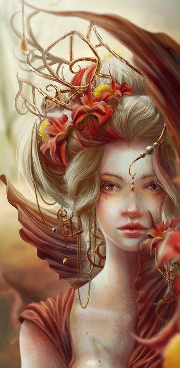 Ornate autumn forest splendor fit for a Fae Princess