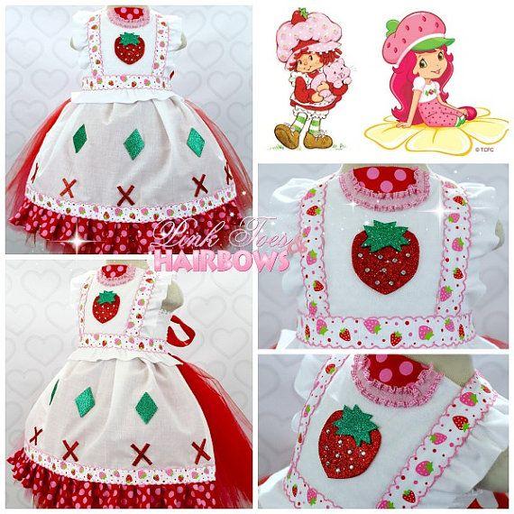 Tutu de Shortcake de la fresa vestido  fresa Shortcake