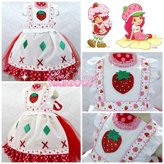 Strawberry Shortcake tutu dress Strawberry by GlitterMeBaby, $90.00 strawberry shortcake costume