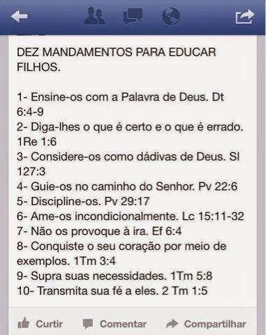 Educação Cristã: 10 mandamentos para educar filhos