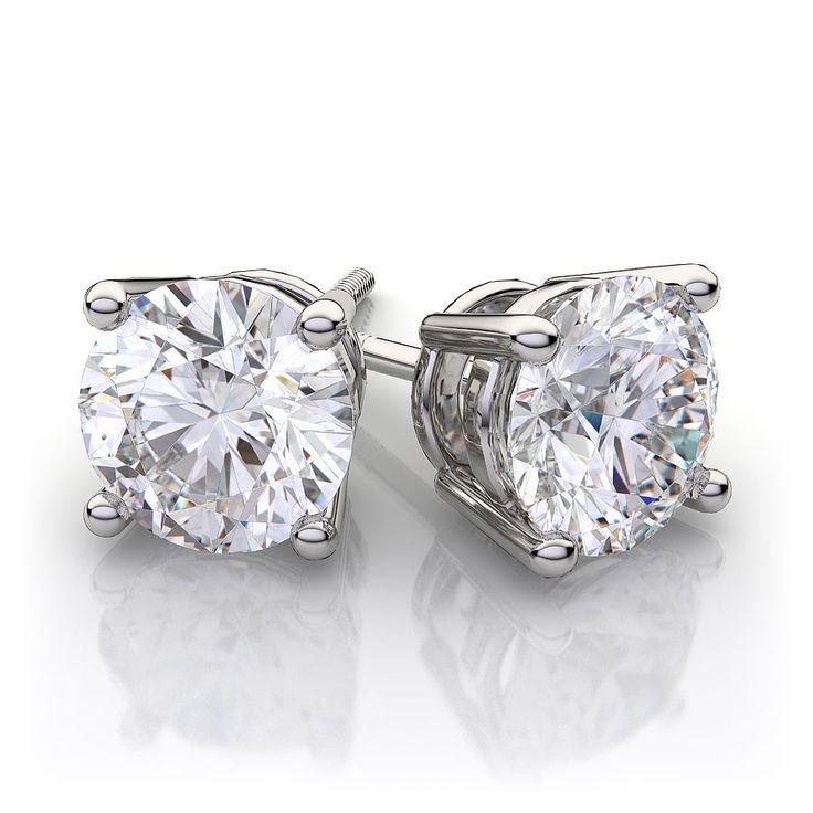 12 best Diamond Stud Earrings images on Pinterest
