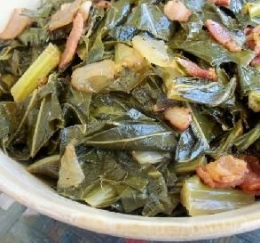 "Southern Collard Greens: ""I loved the tang of the vinegar and how it kept the greens greener. This was a wonderfully easy method for preparing collards."" -*Parsley*"