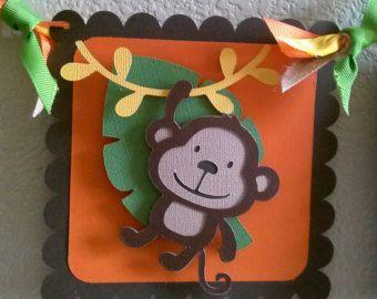 Jungle-Safari Birthday Banner