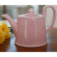 Antique pink tea pot.