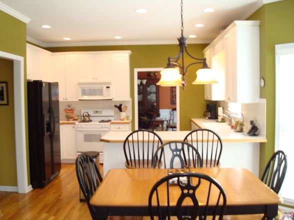 Kitchen Dining Room Combo Ideas White Appliances Kitchen