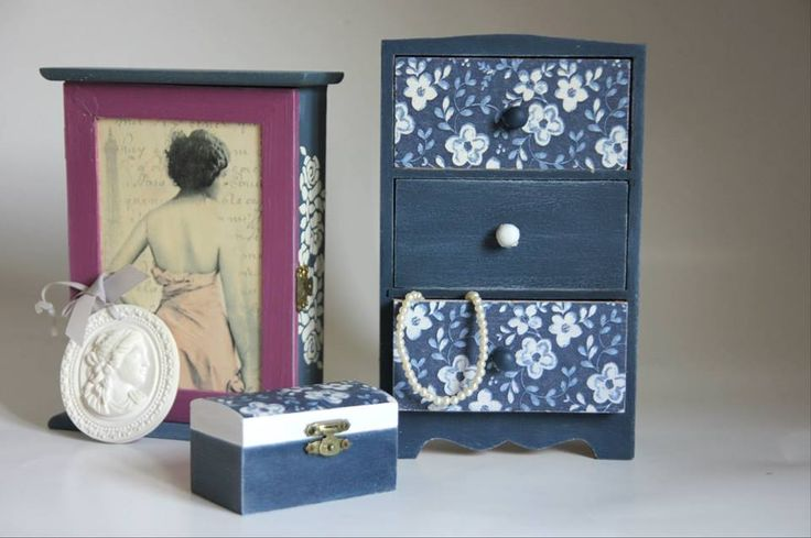 decoupage, key holder, key box, handmade key box, romantic handmade