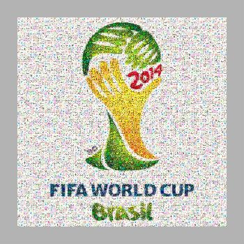 Photo mosaic of FIFA World cup Brasil 2014