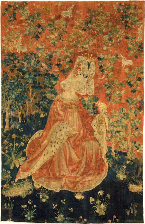 аб.  1400-1415 Южная нидерландский - Леди Холдинг Сокол