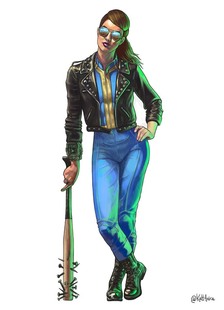 kattanira:  40 days left till Fallout 4 is out and I can almost see the Wasteland now (probably because I got up at 5am to go to work and my eyes are still sleeping). Still obsessed with painting Vault Dwellers. This time: dream costume for Halloween!