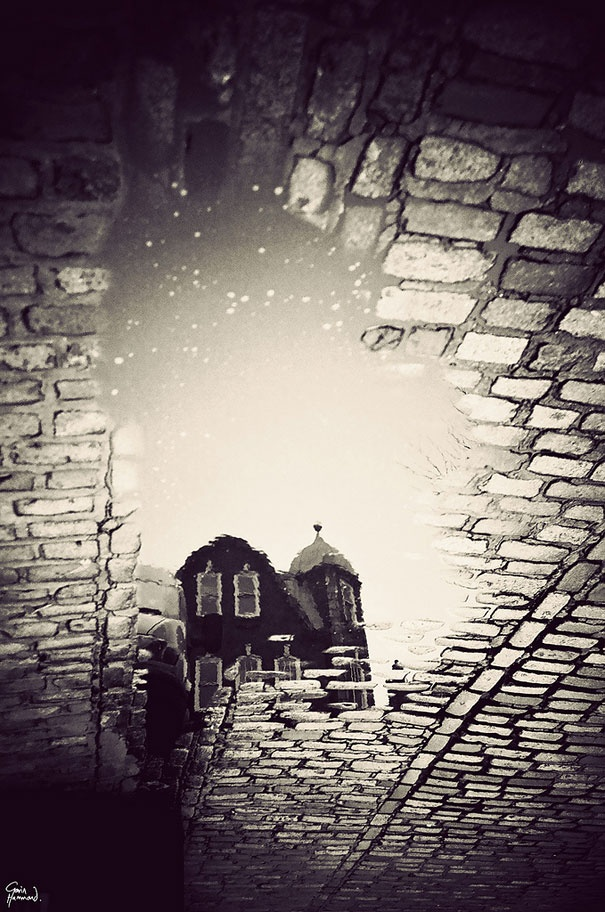 London in Puddles. Gavin Hammon.