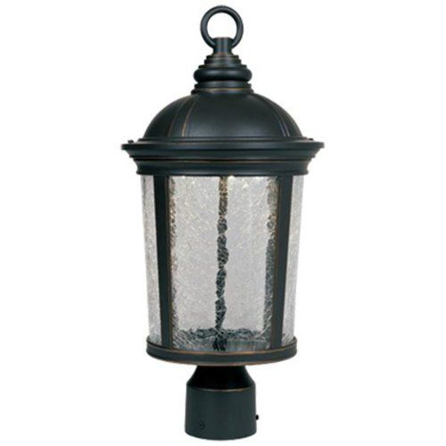 "Designers Fountain LED21346-ABP Winston - 9"" LED Post Lantern, Aged Bronze Patina Finish by Designers Fountain. Save 45 Off!. $148.63. A distinctive accessory for the home, the Winston collection imparts a 19th century handcrafted quality. It's presented in a gorgeous aged bronze patina finish and fitted with panes of multifaceted crackle glass that showcases the luminescence of the LED light source. Stylish and energy efficient outdoor lighting for your home."