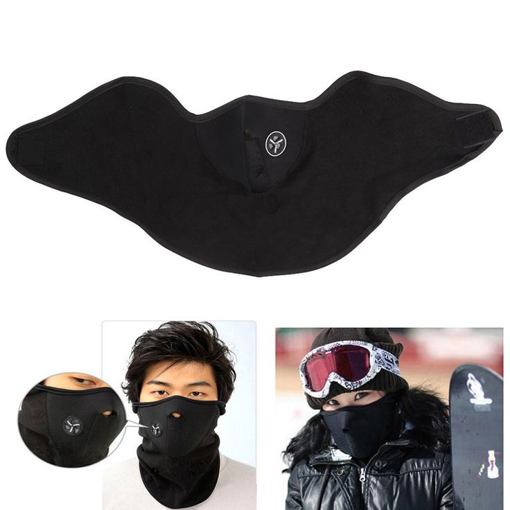 New 1x Neoprene Neck Face Warm Black Mask Sport Motorcycle Bike Veil Beanies Soft Warm Mask Cap BHU2