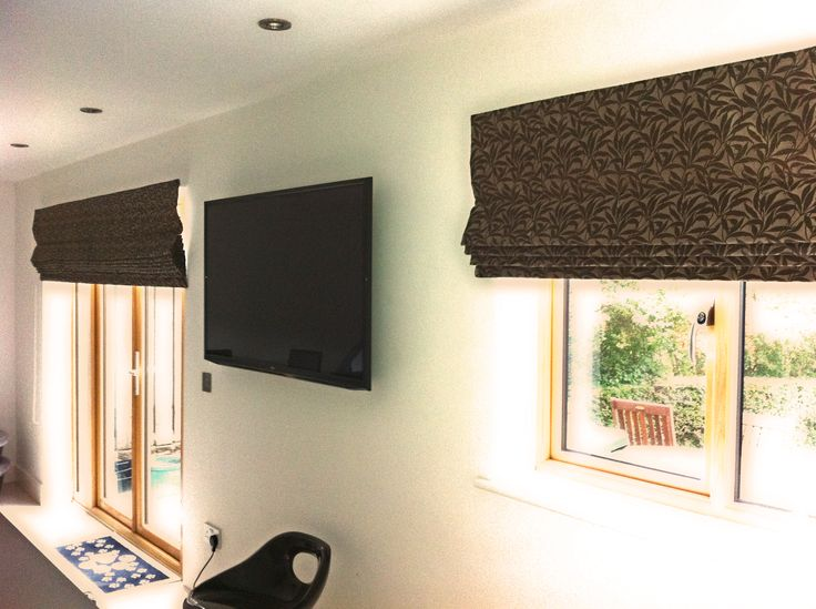 Two Very Large Roman Blinds Over A Patio Door Http Window