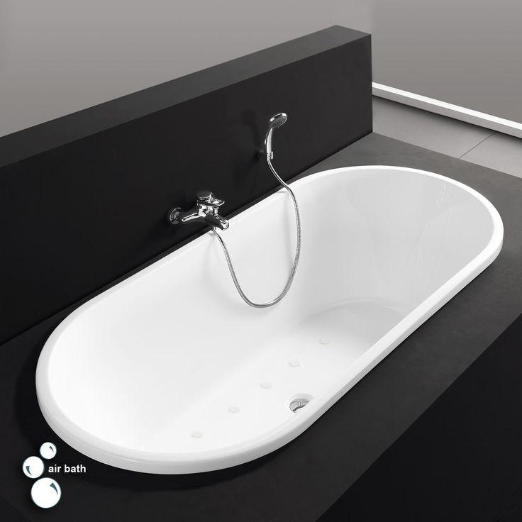 """67"""" Eden Acrylic Drop-In Air Tub - White"""