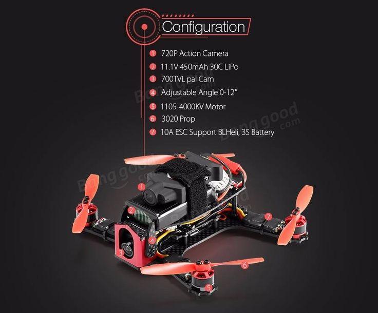 Eachine Racer 130 Naze32 FPV Racer ARF with 720P HD ActionCam 700TVL Camera(20% off coupon code:130ARF)
