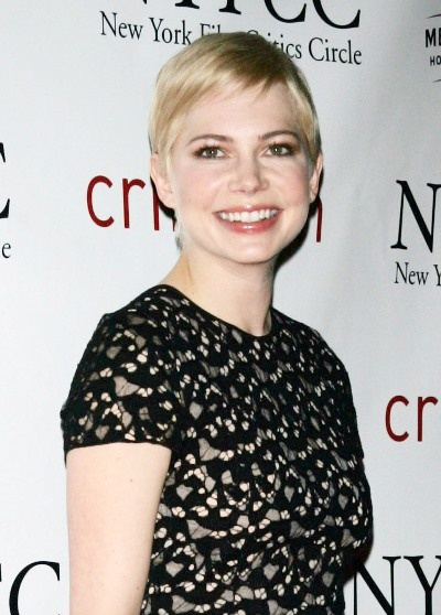 Michelle Williams chic, pixie hairstyle