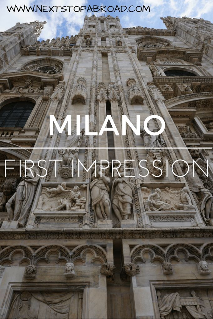 First time visiting Milan, my impression and photo documentation