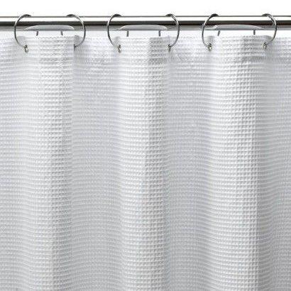 Shower Curtain Long Waffle