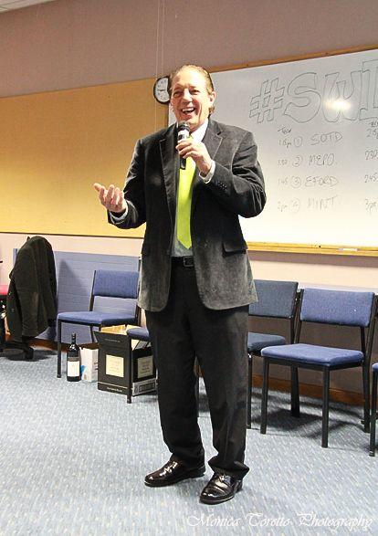 Invercargill Mayor Tim Shadbolt during his highly amusing final night speech at the Invercargill Start Up Weekend. July 28, 2013.