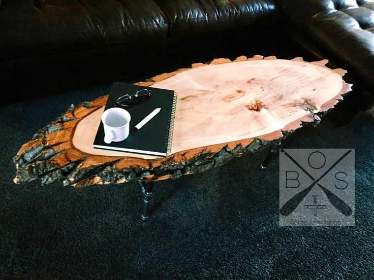 On {SALE} Industrial Live Edge Coffee Table, Handmade Wood, Iron Pipe, Steam Punk by BOSHomeFurnishings on Etsy https://www.etsy.com/ca/listing/509044993/on-sale-industrial-live-edge-coffee