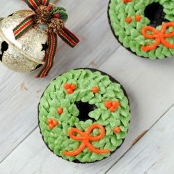 Christmas Wreath Doughnuts