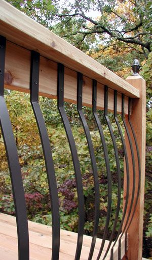 pictures of decks with alluminum balusters | ... screws the arc deck baluster is perfect for 36 deck rail heights