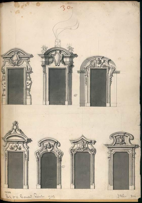 [Sept portes ou fenêtres] Centre de documentation des musées Les Arts Décoratifs toit
