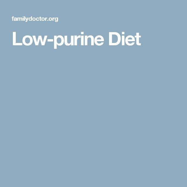 Low-purine Diet