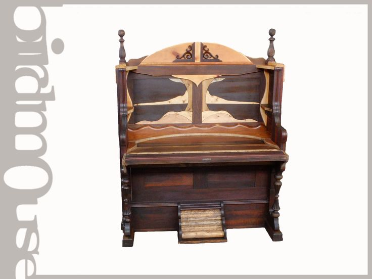 Pump Organ from 1910 transformed into a writing desk -birdmouse