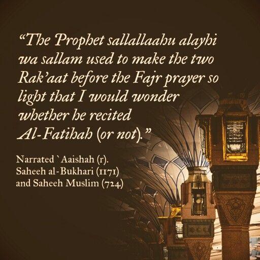 The #sunnah of fajr (#Hadith, #Salah, #Sunnah)