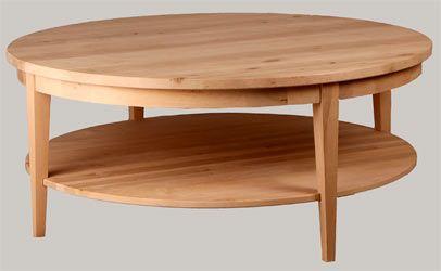 Tyylikäs pyöreä sohvapöytä. Eri kokoja! Halk. 80, 100, 120 cm. Välitasolla ja ilman. Tervaleppää. juvi.fi