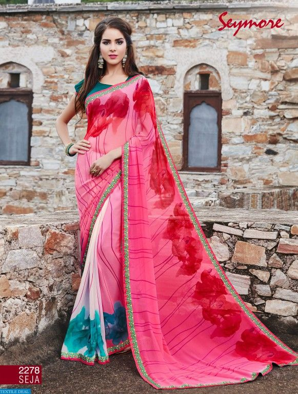 Shop Now Seymore Fiza Brand Casual Ethnic Sarees Catalogs Collection Online at #TextileDeal