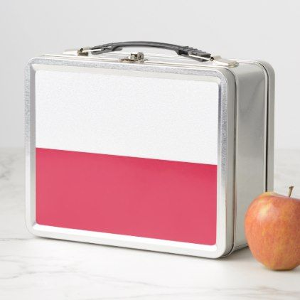 Metal Stainless Lunchbox with Poland flag - home gifts ideas decor special unique custom individual customized individualized