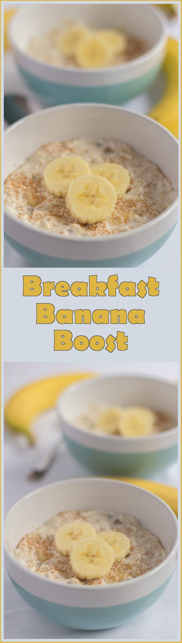 Tasty banana vanilla overnight oats recipe. Save time with your breakfast by making it the night before! This really will give you a great energy BOOST at the start of your day!