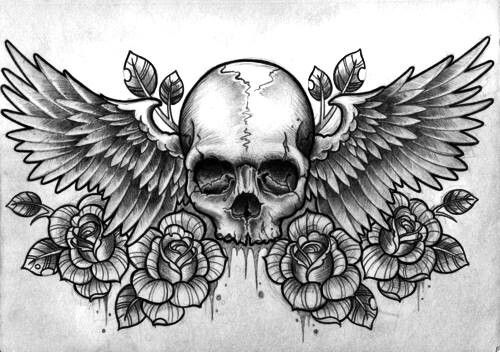 Tattoo inspiration... Skull & Roses