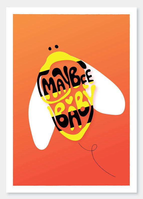 Maybee Baby    A4 art print and illustration by by DailyThoughts, €15.00