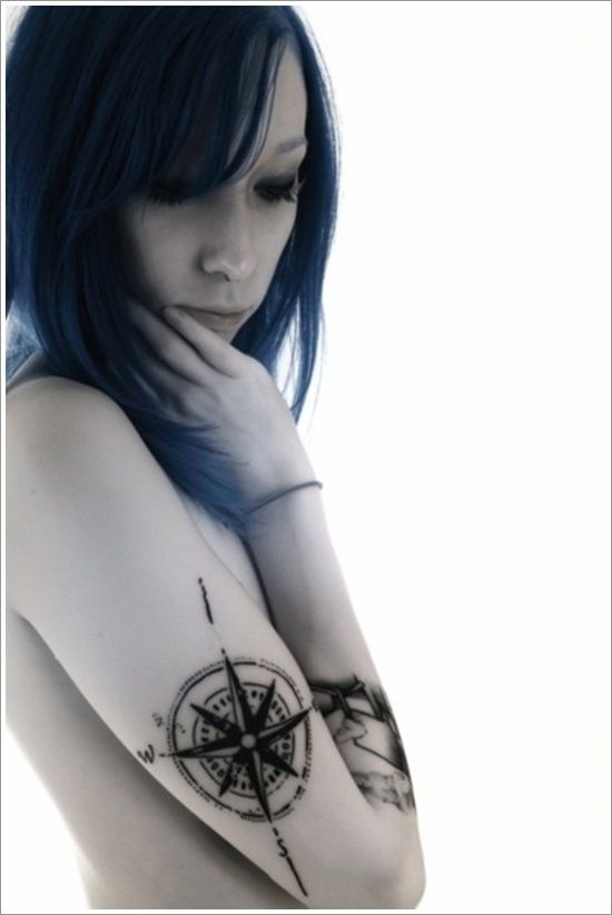 nice Compass tattoo on hand more images check my website