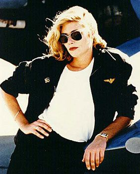 """Kelly McGillis or """"Charlie"""" in Top Gun plays a prominent role in the film. I feel like this was when they began introducing women in positions of power in American military films and boy have we come a long way!"""