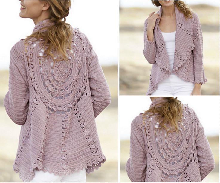 Crochet Circular Lace Jacket Free Pattern