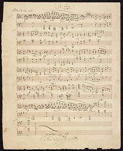 Mendelssohn-Bartholdy, Felix, 1809-1847. Lieder ohne Worte, piano, op. 19b. Nr. 4 . Song without words for piano, op. 19b, no. 4 : autograph manuscript, 1829 Sept. 14.