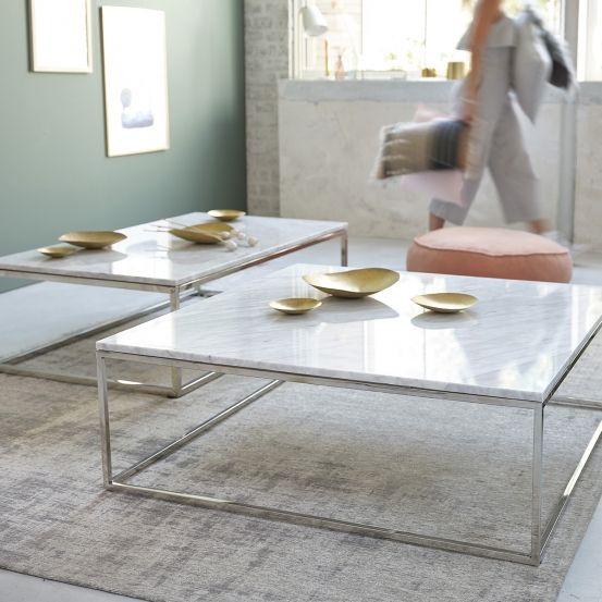 Table Basse Carree En Marbre Blanc Et Metal 100 Mobilier De Salon Bdbd Table Basse Table Basse Carree Table Basse Marbre