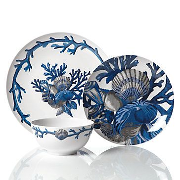Drab or Fab: Sea Life DecorIndigo, Beach Home, The Mars, Beach House, Dinner Plates, Blue, Dishes, Mars Dinnerware, China