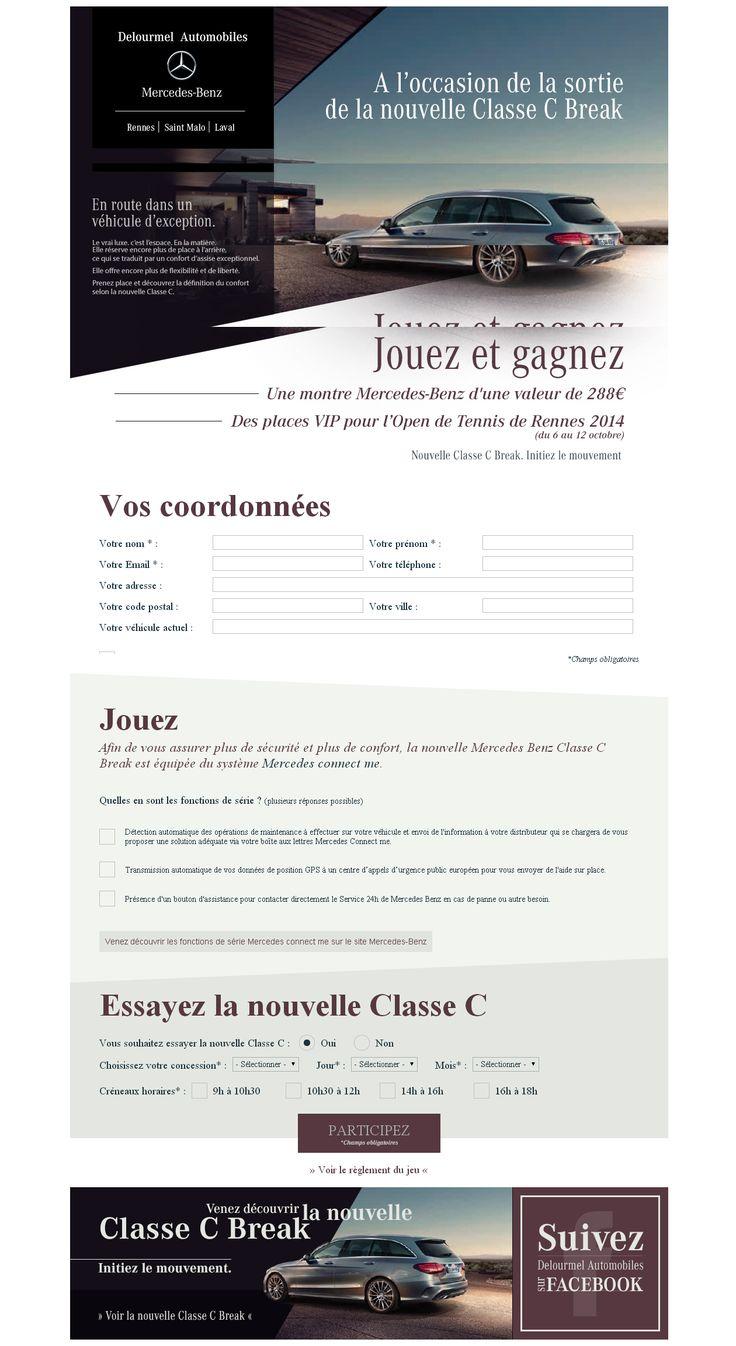 Réalisation d'un jeu-concours Mercedes : http://www.delourmel-mercedes-classec.com/
