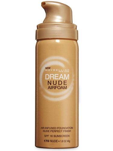 Maybelline New York Dream Nude Airfoam Foundation ($11) provides ample coverage while feeling light as air.