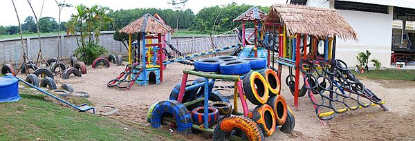 Recycled Tires, Playground Ideas And Tires Ideas