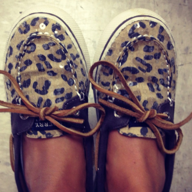 They finally came in the mail today! YAY for leopard sperrys and being able to wear kid sizes!
