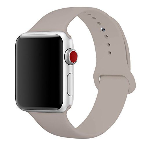 Band for Apple Watch 38mm, SIRUIBO Soft Silicone Sport Strap Replacement Bracelet Wristband for Apple Watch Series 3, Series 2, Series 1, Nike+, Edition, Pebble S/M Size #Band #Apple #Watch #SIRUIBO #Soft #Silicone #Sport #Strap #Replacement #Bracelet #Wristband #Series #Nike+, #Edition, #Pebble #Size
