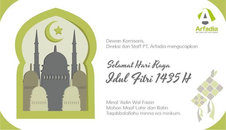 Selamat Hari Raya Idul Fitri 1435 Hijriah #EidMubarak #IdulFitri #Greetings #1435H