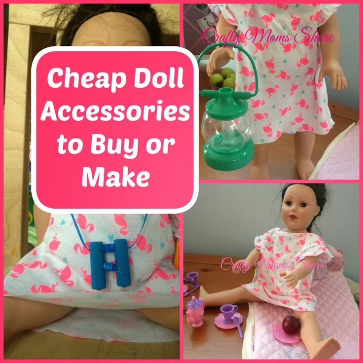 After our big adventure  to the very expensive American Doll Store I wanted to find or make some of the things Hazel wants for her dolls...