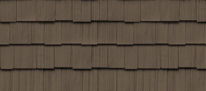 "Cedar Impressions® Double 9"" Staggered Rough-Split Shakes - Shake & Shingle Siding - Vinyl Siding & Polymer Shakes - CertainTeed"